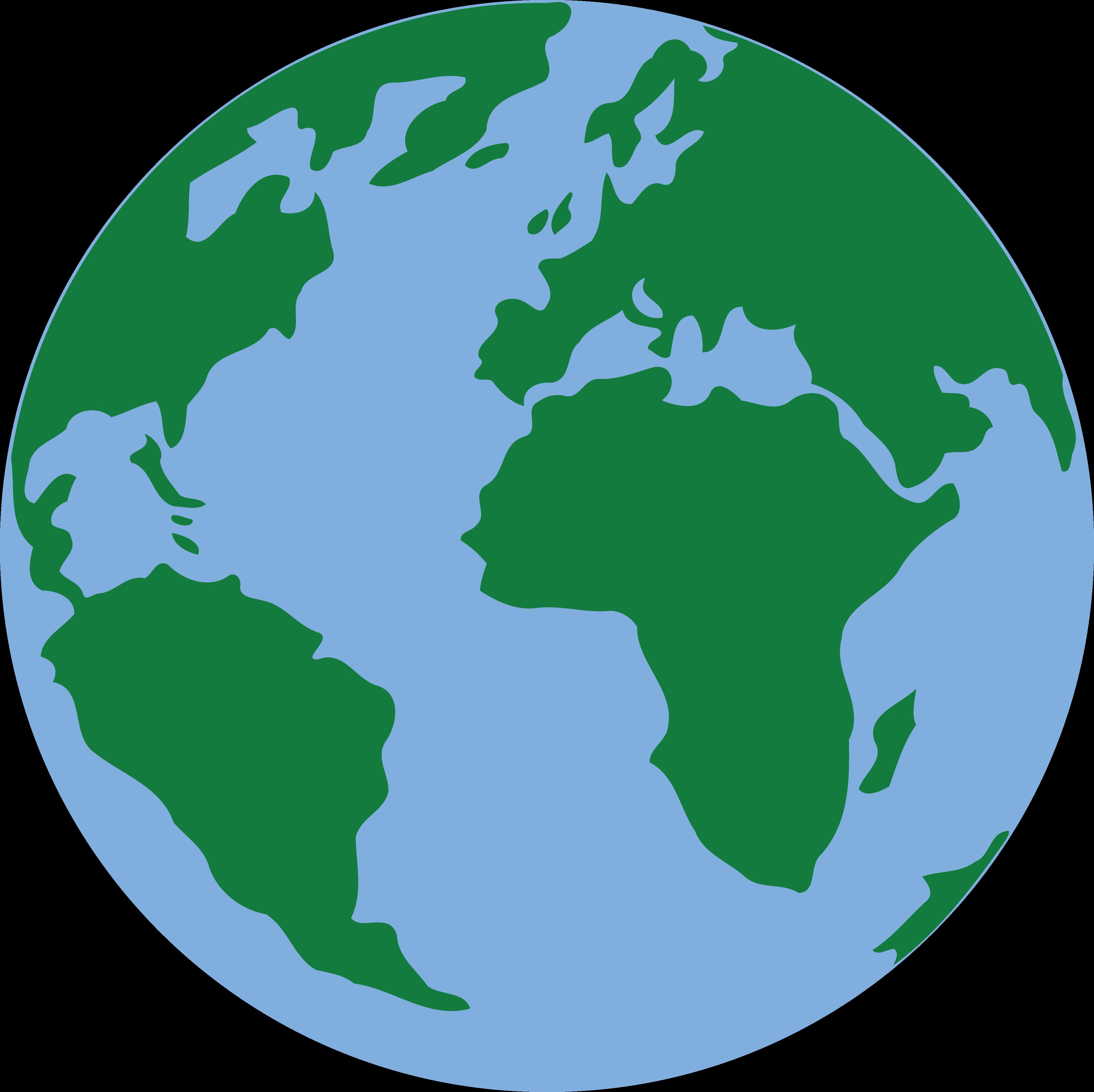 Globe green planet transprent. Clipart earth clip art