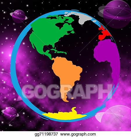 Clipart earth colourful. Drawing planets shows solar