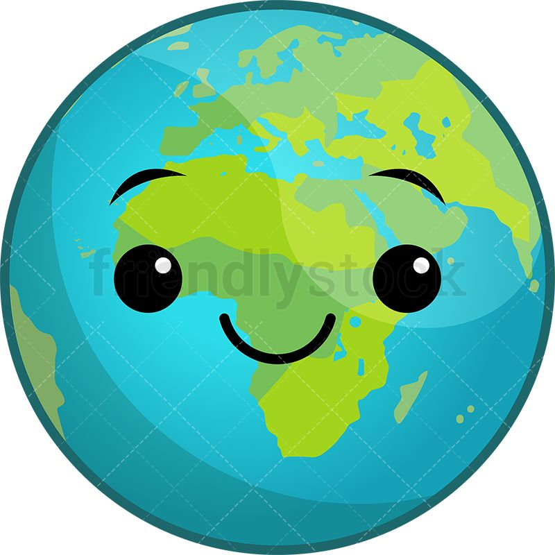Clipart earth cute. Kawaii planet for the