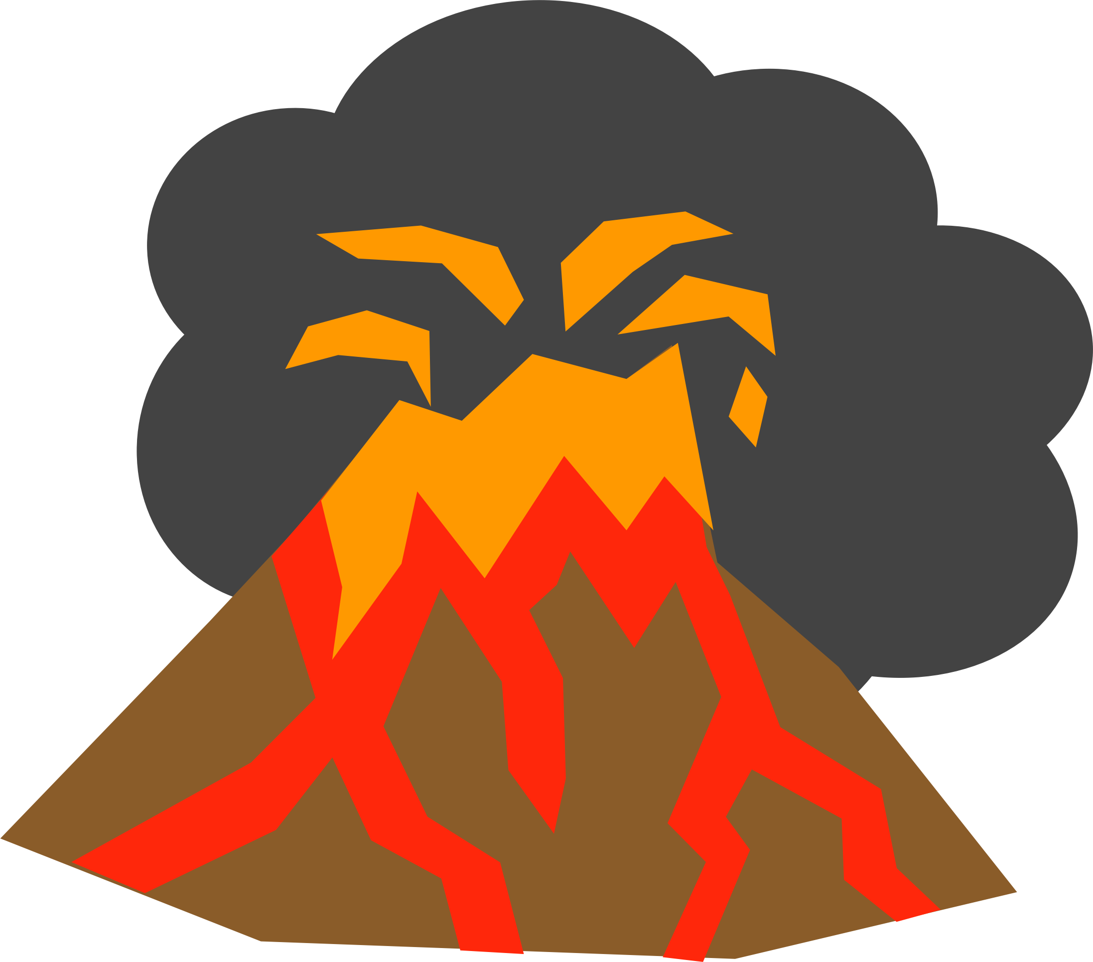 collection of transparent. Clipart mountain volcano