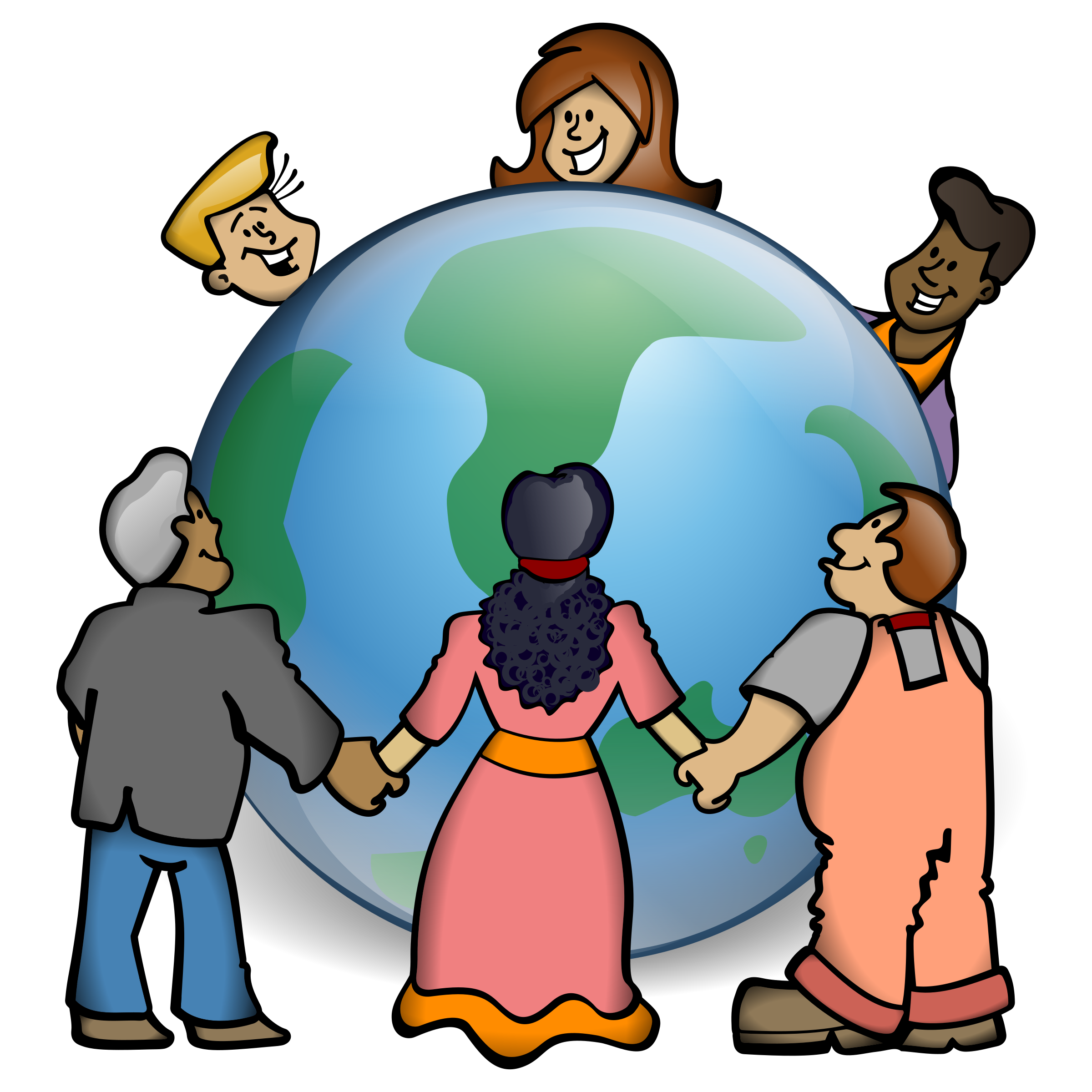 Embrace the world big. Clipart earth diversity