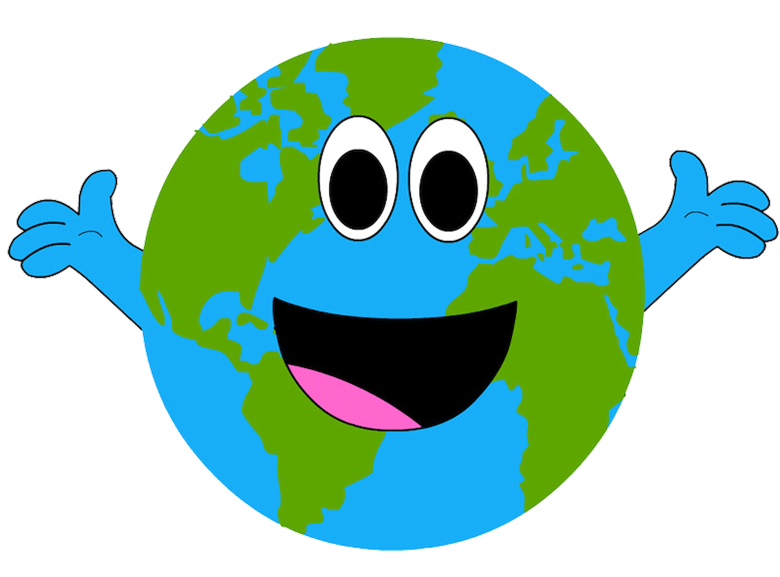 The day earth smiled. Planets clipart smiley