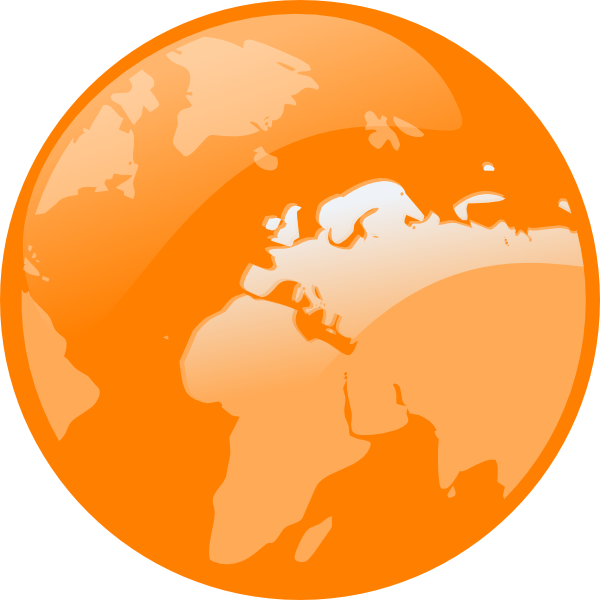 Globe clipart orange. Earth clip art at