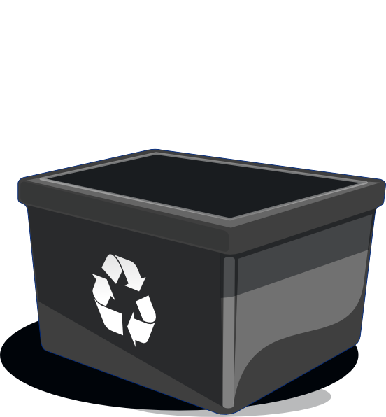 Garbage clipart recycle bin. Clip art at clker