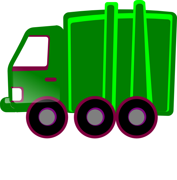 Green truck clip art. Home clipart garbage