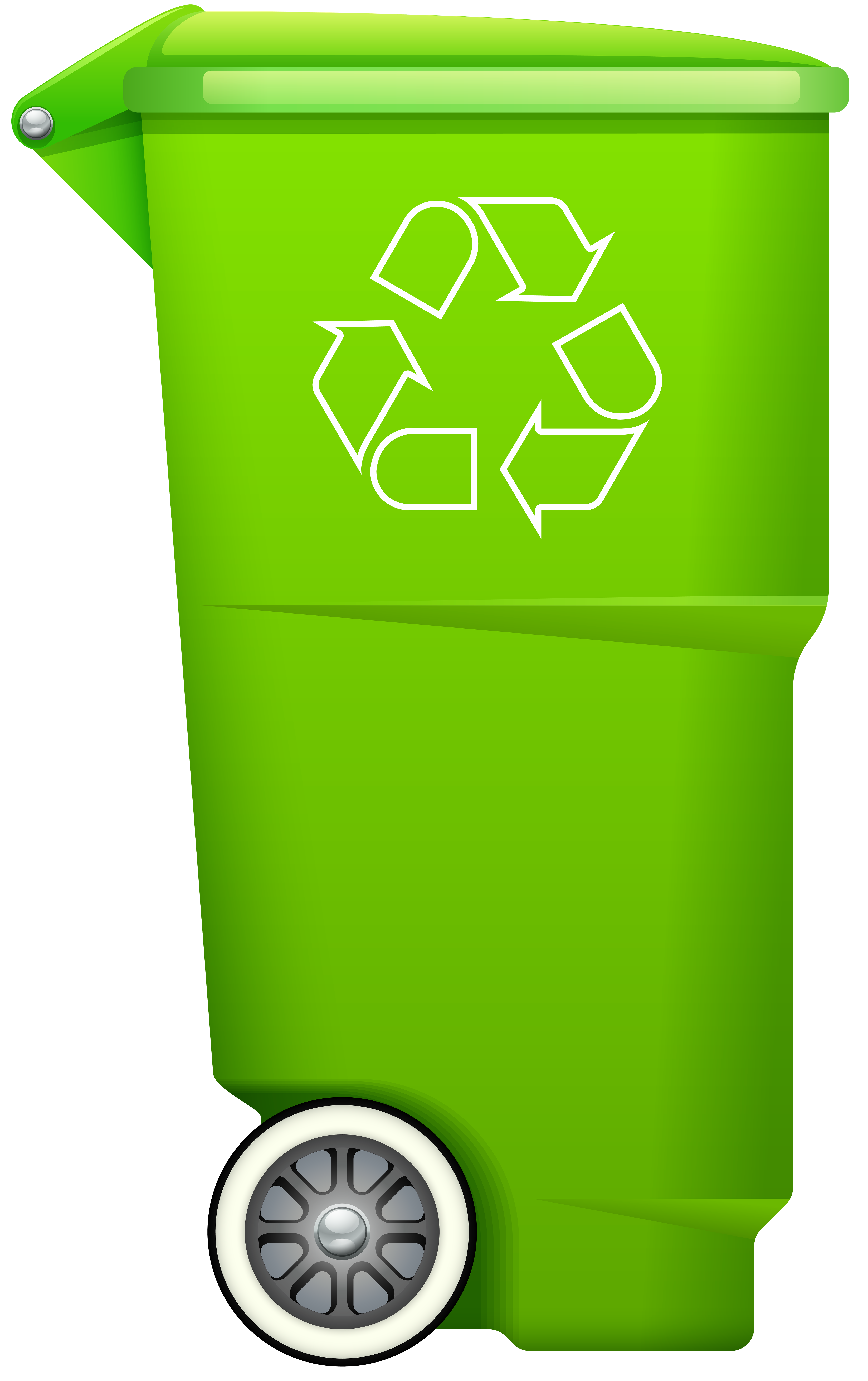 Trash bin with recycle. Garbage clipart clip art