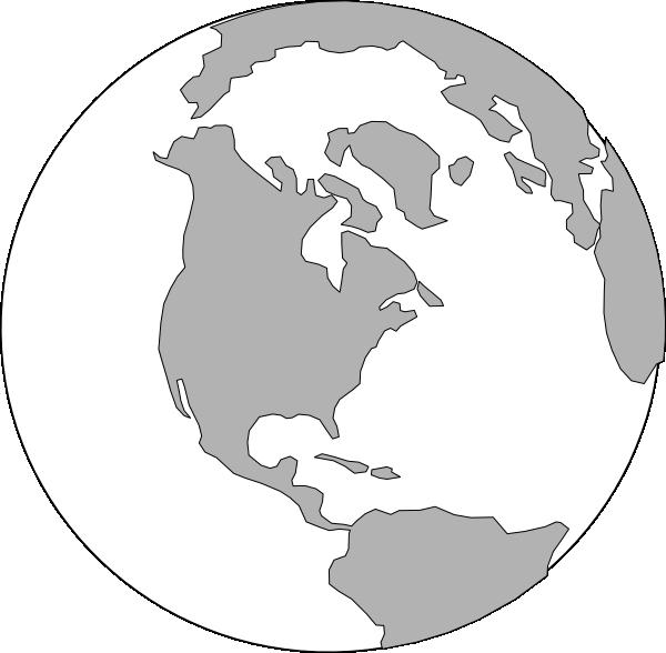 World logo clip art. Clipart earth grey