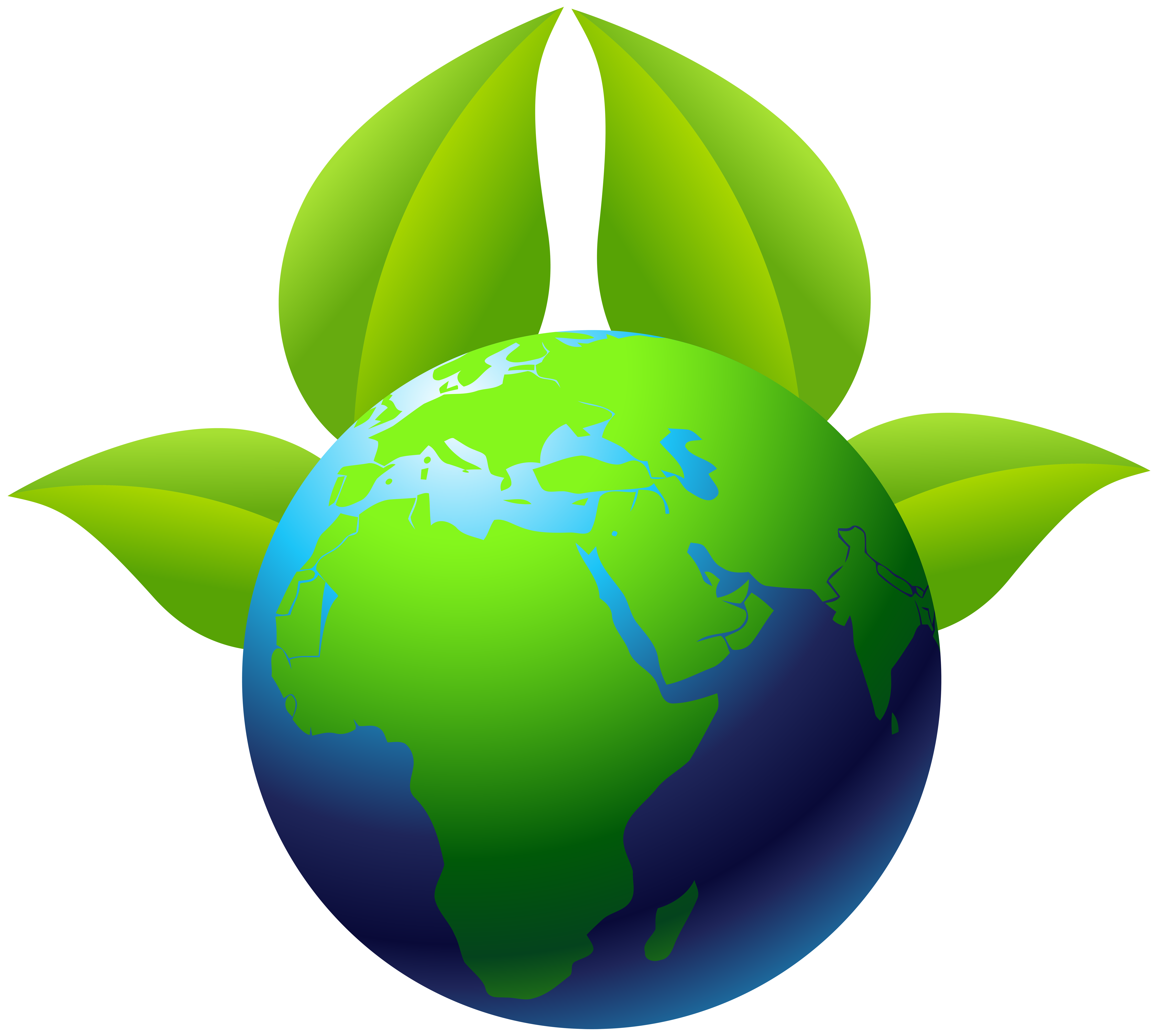 Clipart earth grey. With leaves png clip