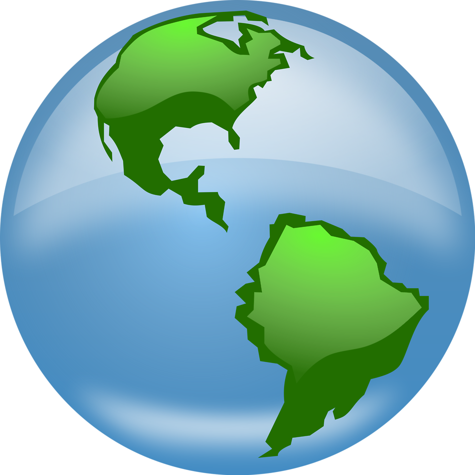 Common interpretation and meanings. Clipart earth half