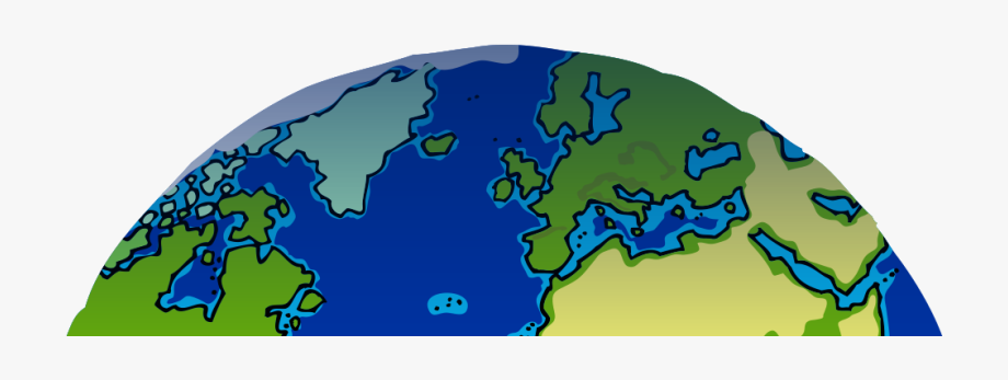 Clipart earth half. Created with rapha l