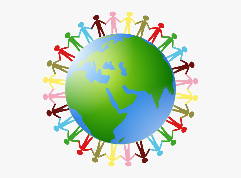 Earth in hands png. Clipart world holding hand around world