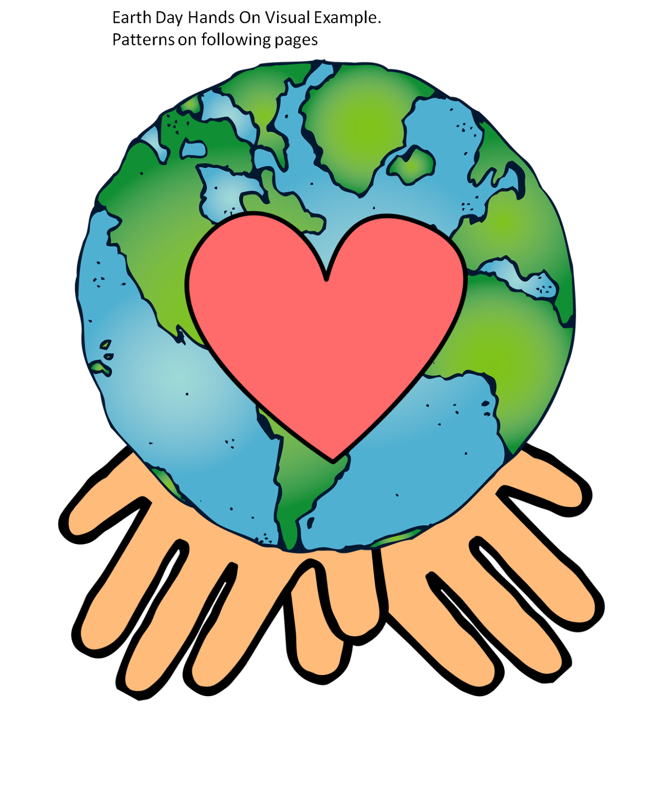 Clipart earth hands. Showing not telling and