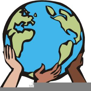 Holding the free images. Clipart earth hands