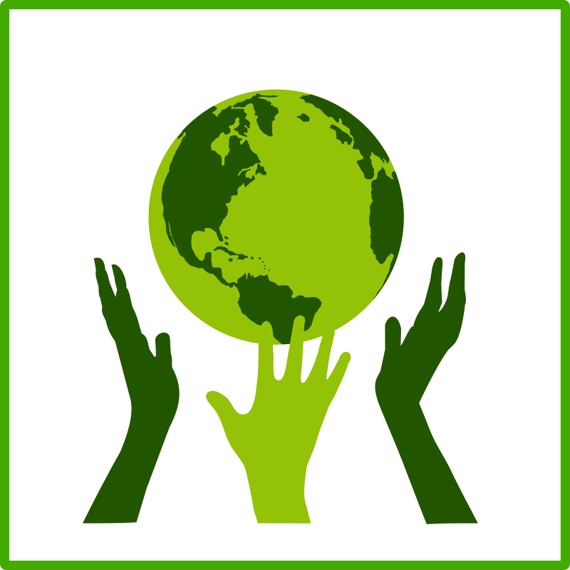 Clipart earth hands. Green panda free images