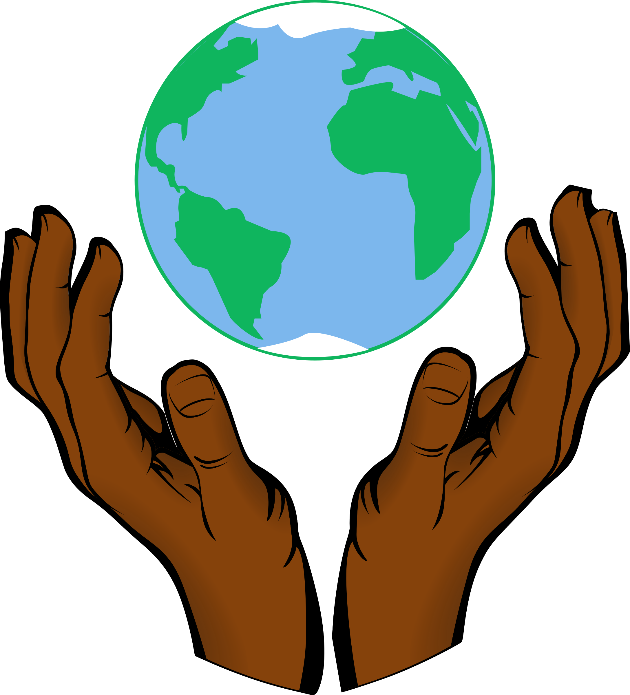 Clipart world hand clipart.  collection of earth