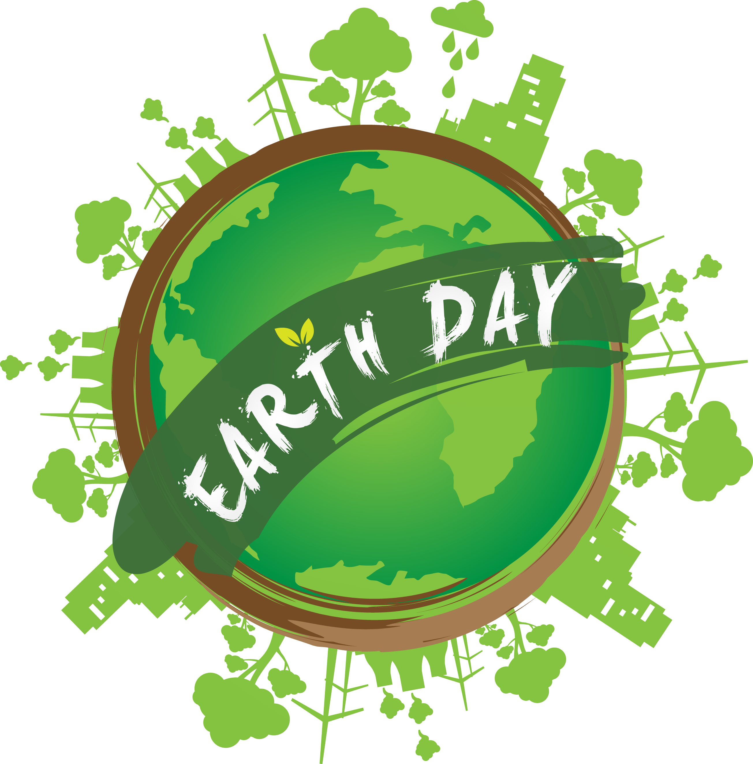 Day save nature green. Clipart earth happy
