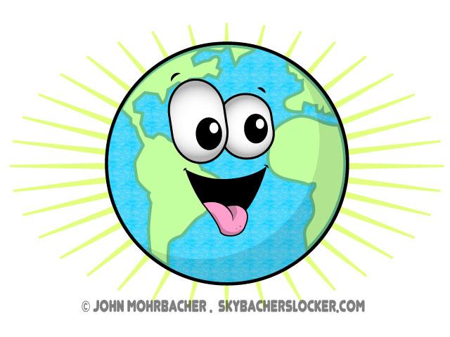 Cartoon panda free images. Clipart earth happy
