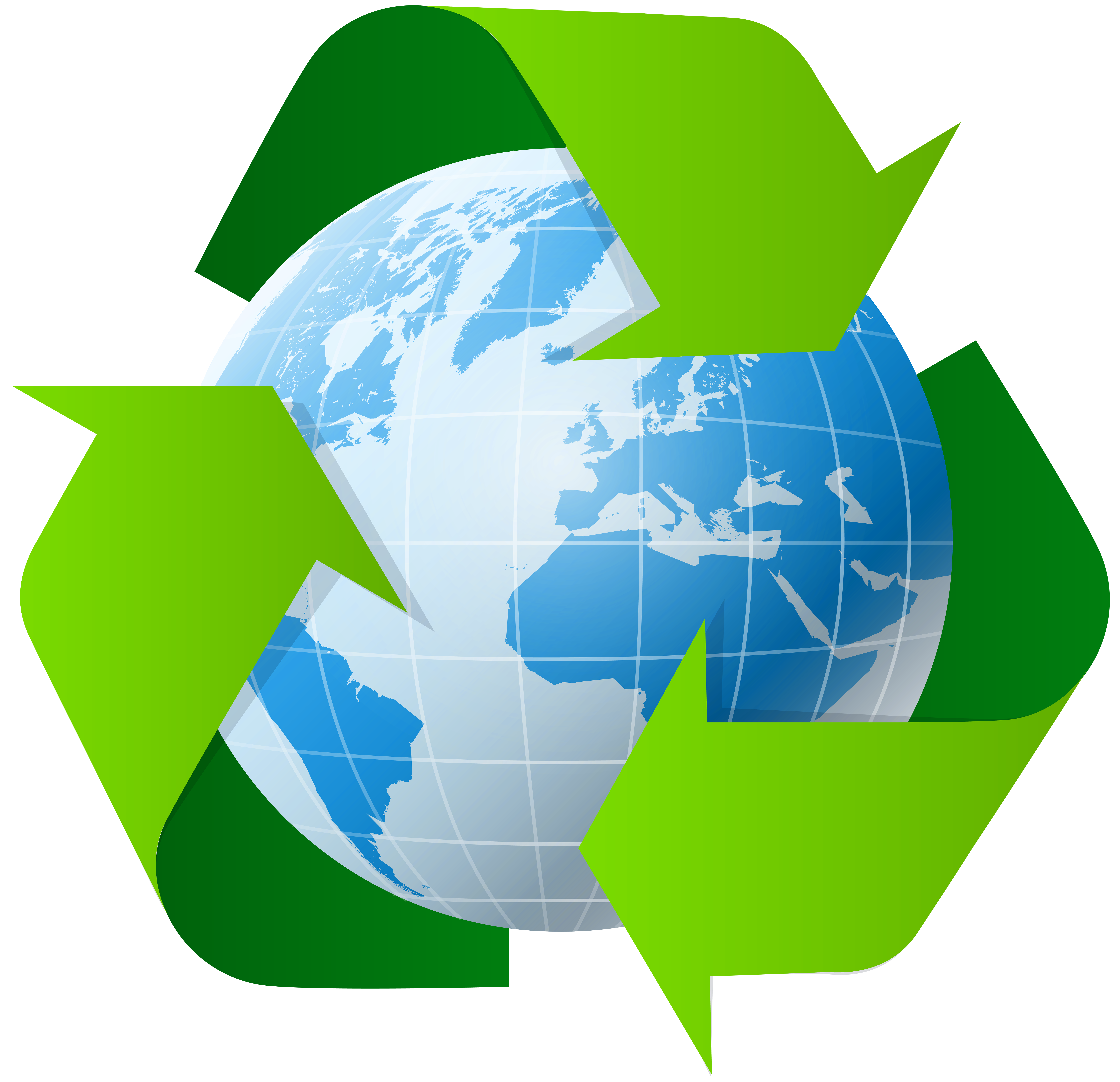 With recycle symbol png. Clipart earth high quality