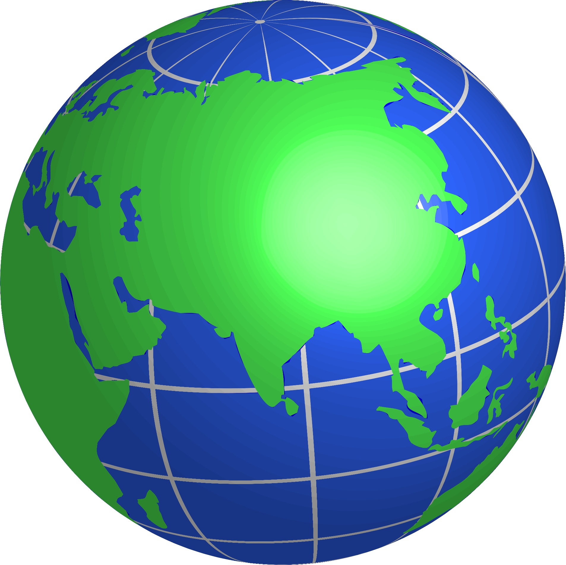 Asia globe . Mittens clipart green