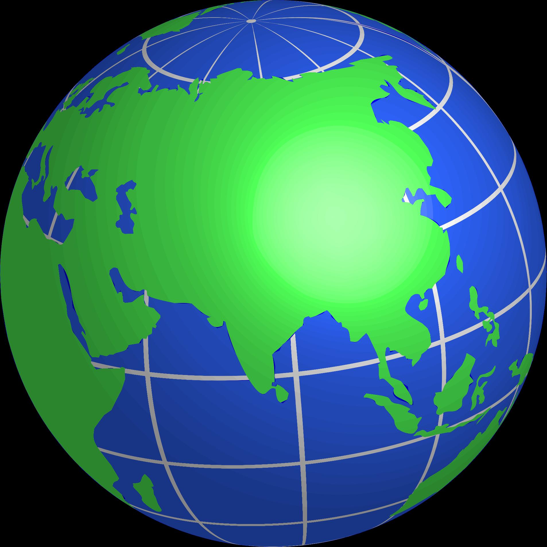 Clipart globe current event. Asia