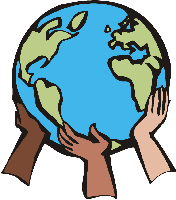 Clipart world hand clipart. Free earth day download
