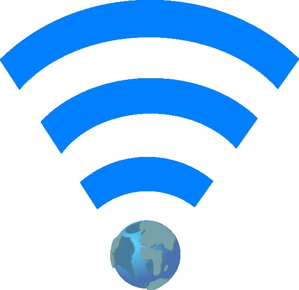 Globe clipart symbol. Wifi with earth clip