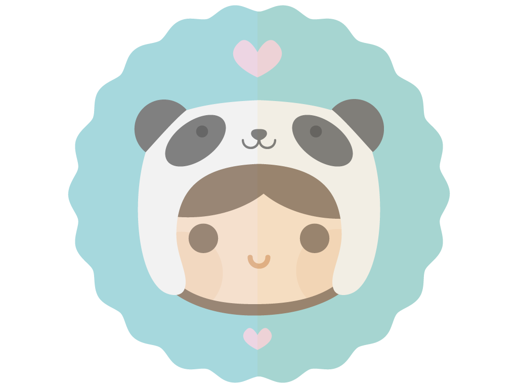 Meat clipart kawaii. Panda hat by apparate