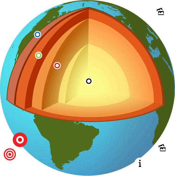 Earths layers thinglink . Clipart earth layer