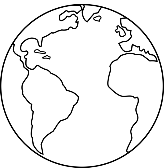 Colorable earth art free. Planet clipart line