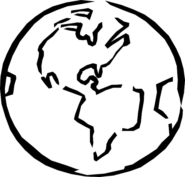Outline panda free images. Globe clipart black and white