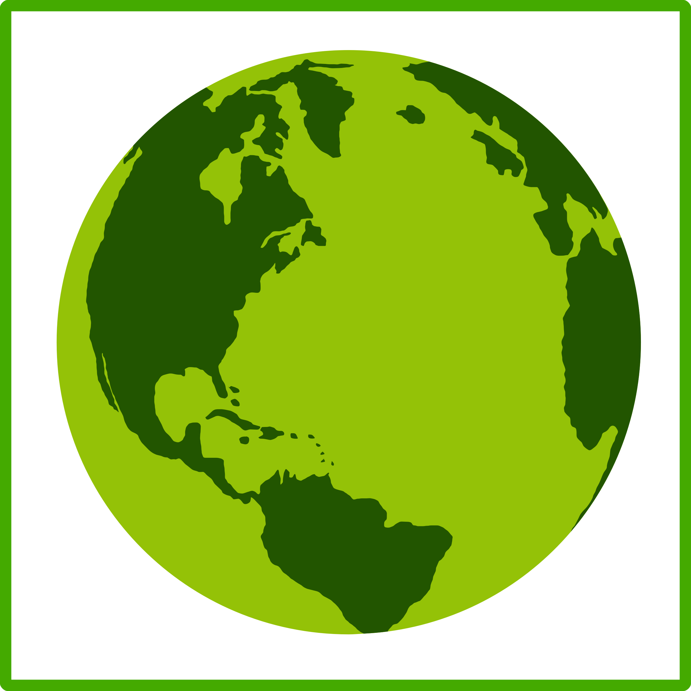 Planet clipart green planet. Eco earth icon big