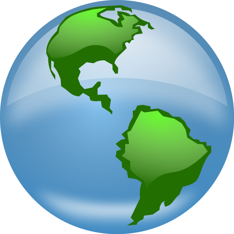 Planet half free collection. Earth clipart map