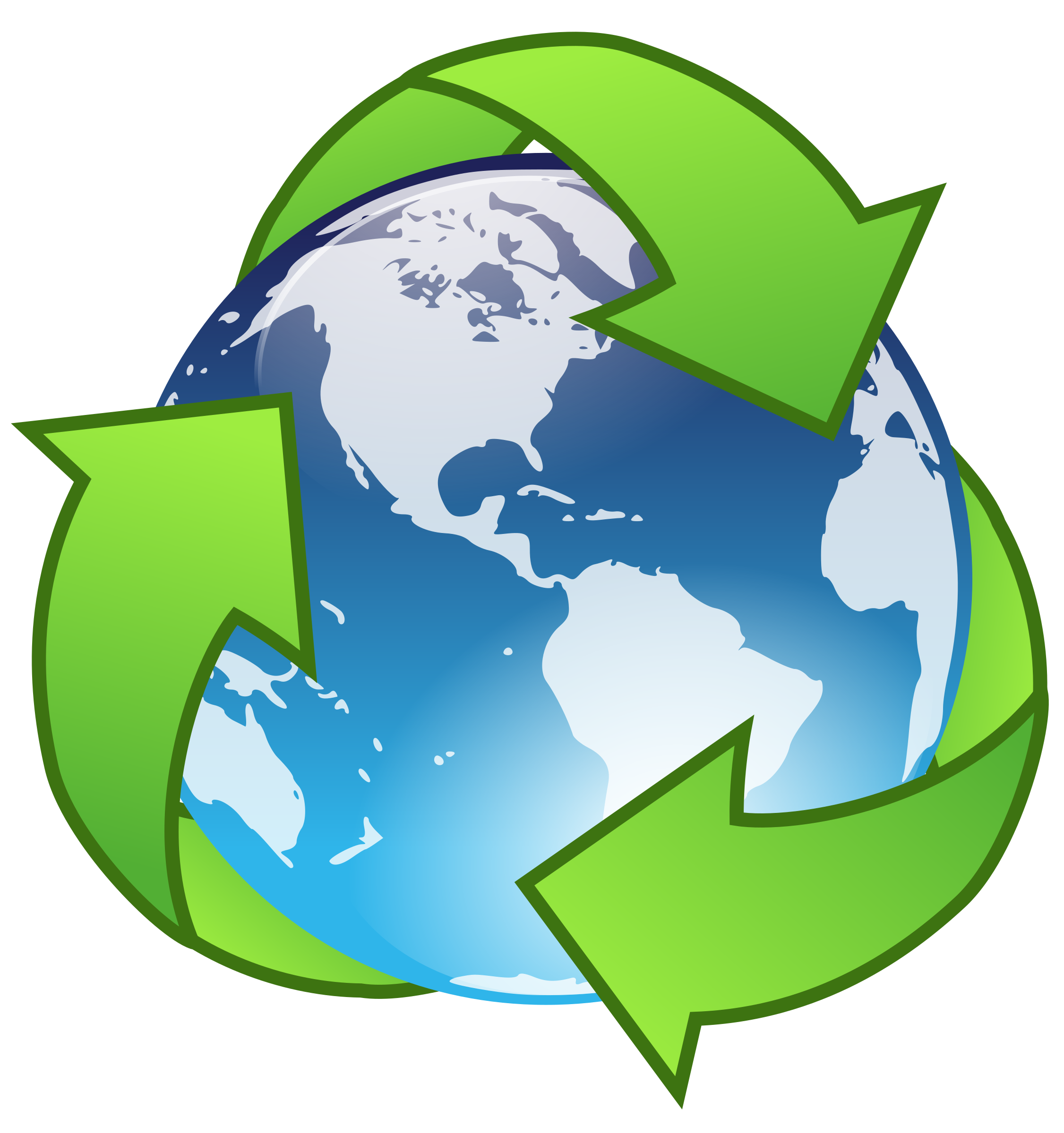 Crystal recycle big image. Clipart earth logo