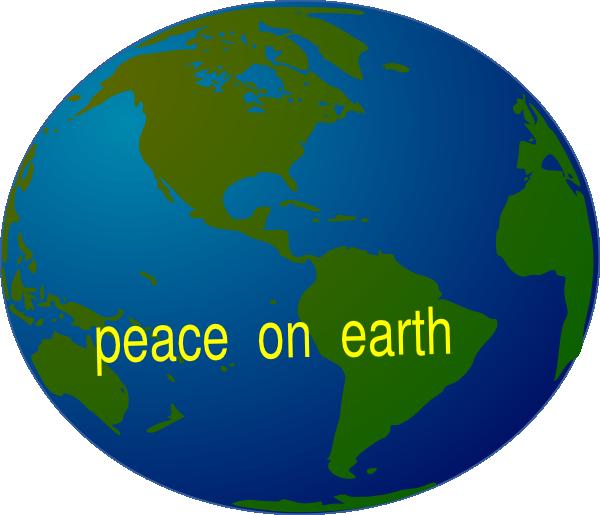 Peace on clip art. Clipart earth logo