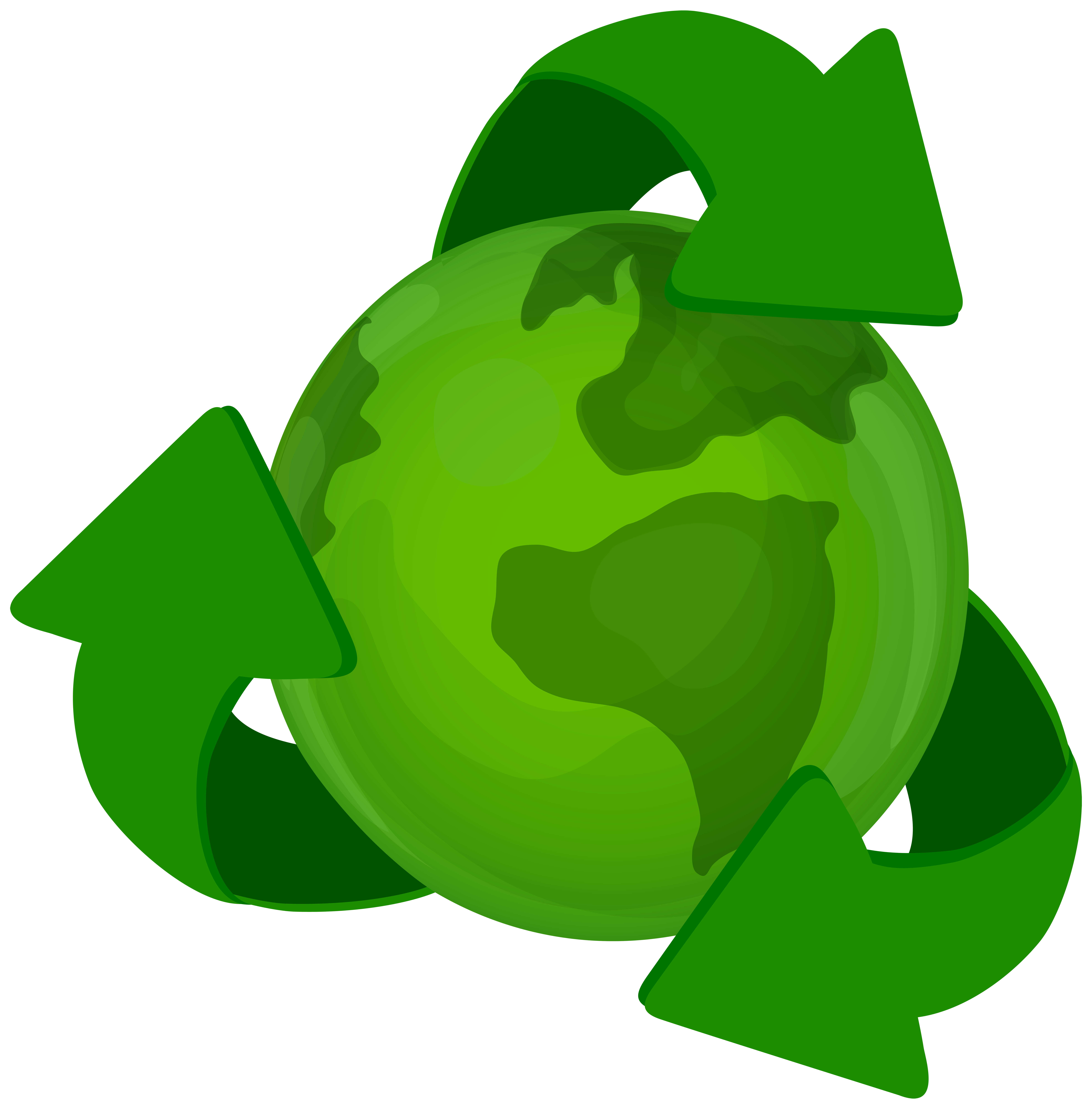 Earth with recycle symbol. Planeten clipart green planet