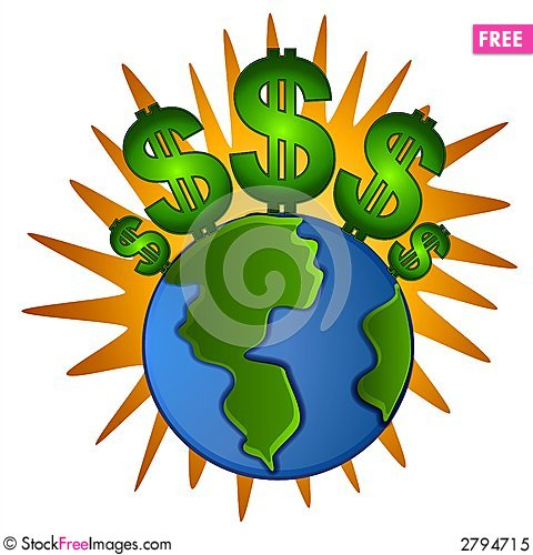 Clipart earth money. Cash dollar signs free