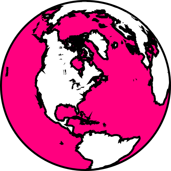 Earth pink frames illustrations. Globe clipart black and white