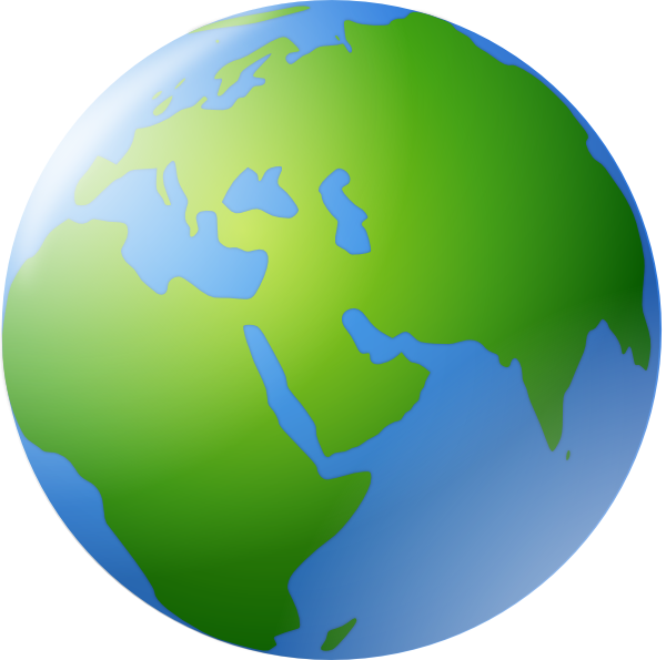 World map clip art. Planets clipart animated globe