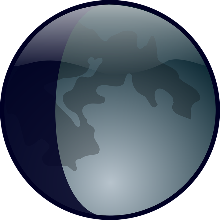 Clipart earth moon. Lunar free planet phase