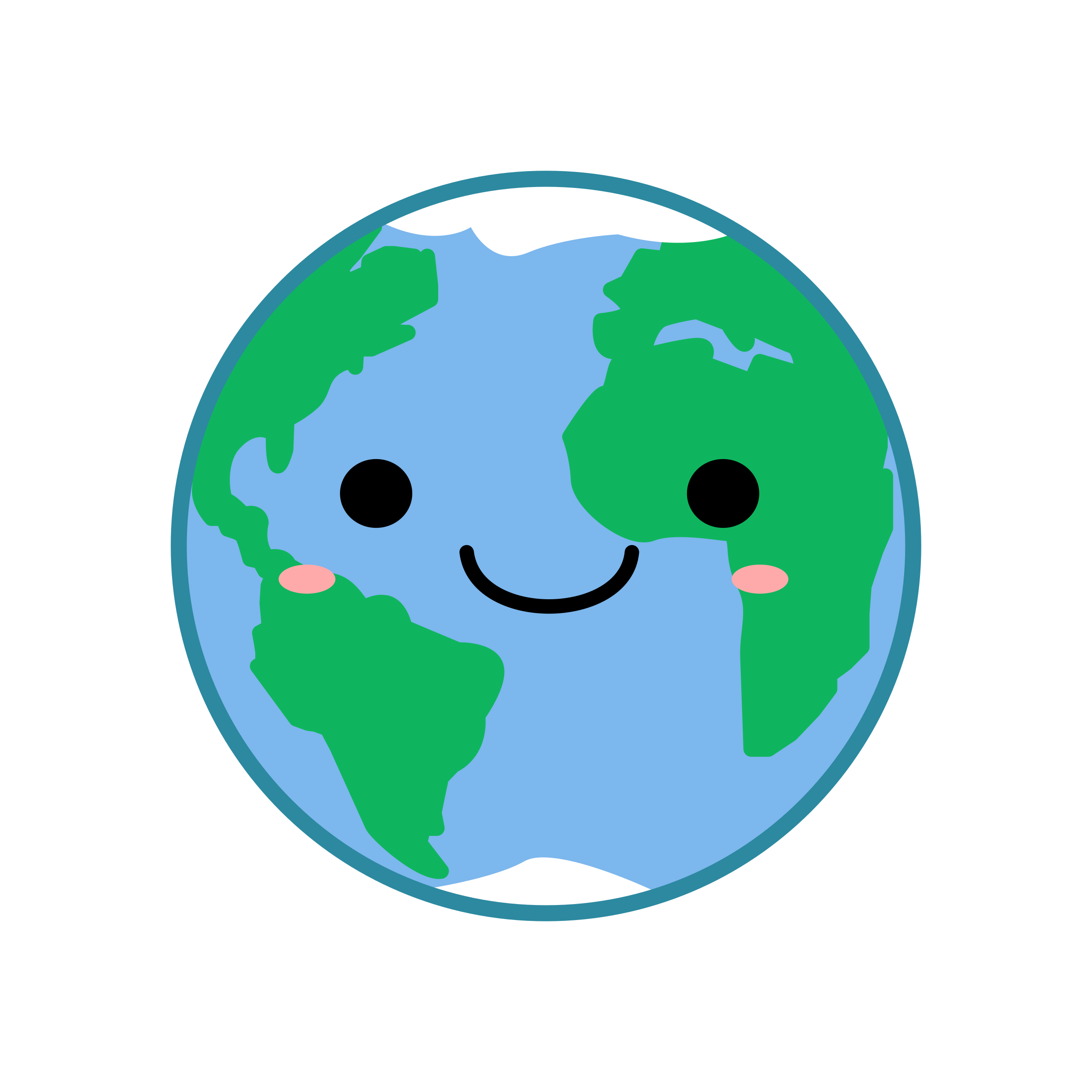 Kawaii earth icons png. Planets clipart animation