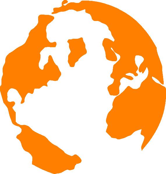Clip art at clker. Globe clipart orange
