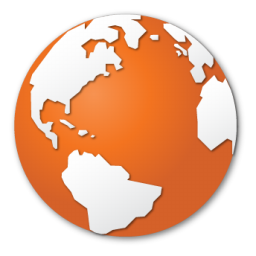 Images gallery for free. Globe clipart orange