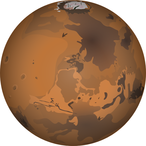 Earth mars celestial structures. Kids clipart planet