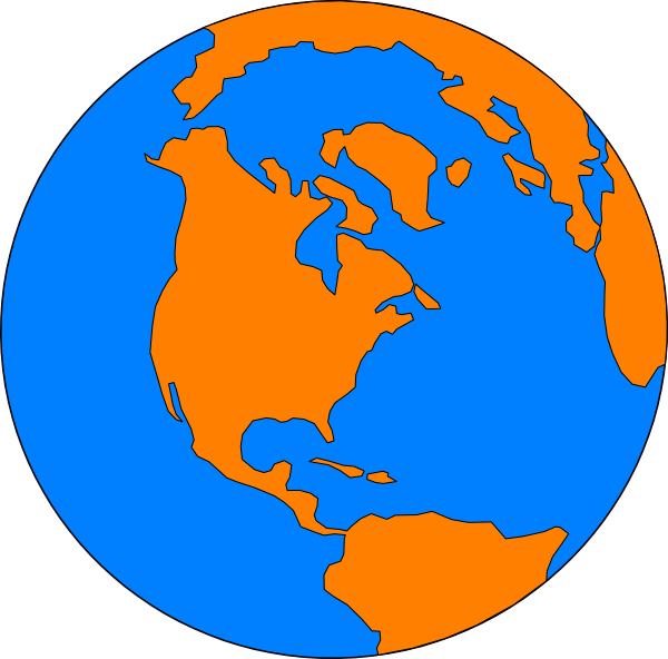 World clip art at. Earth clipart map