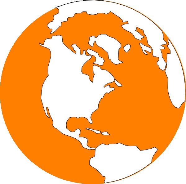 Earth clip art at. Planet clipart orange planet