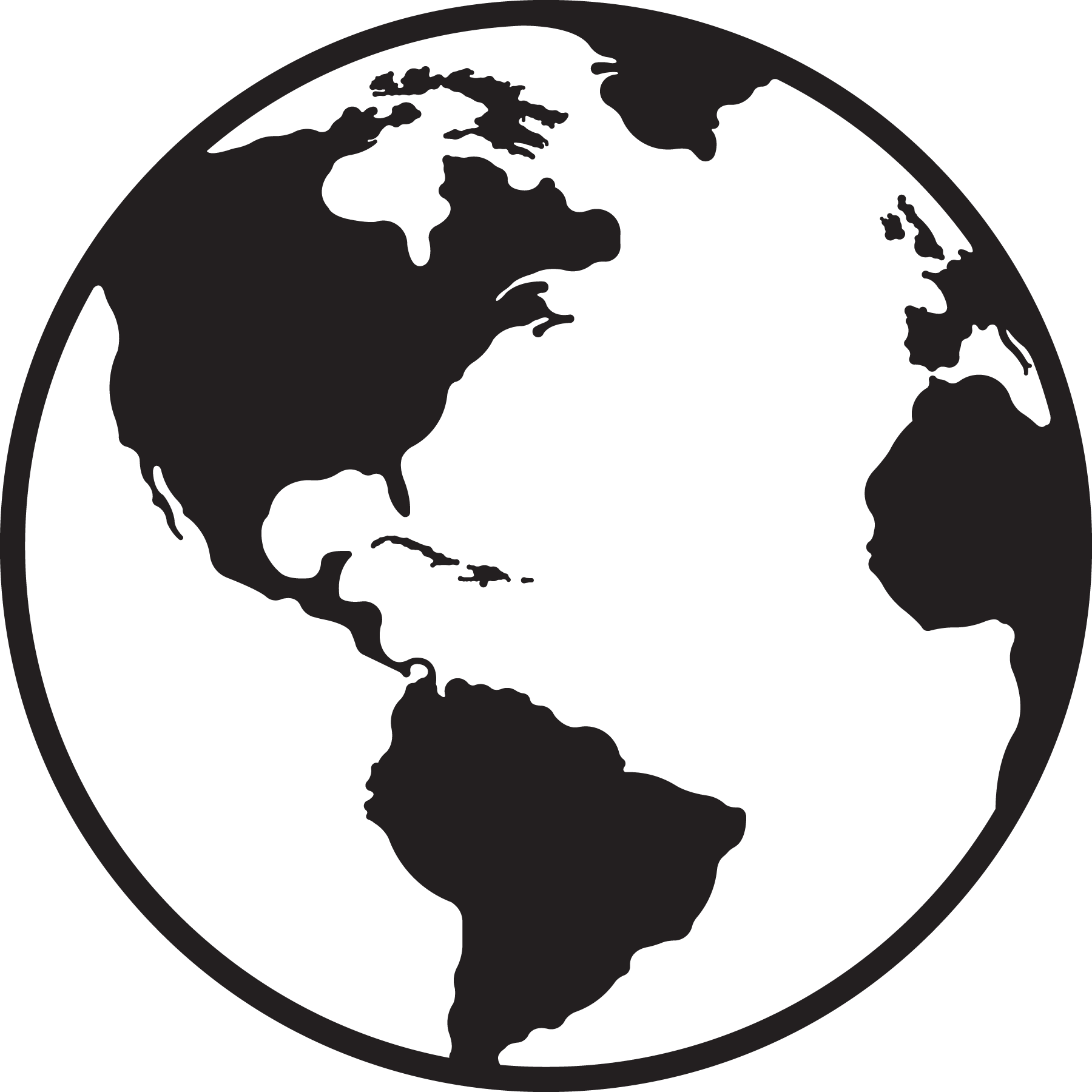 collection of earth. Clipart world black and white