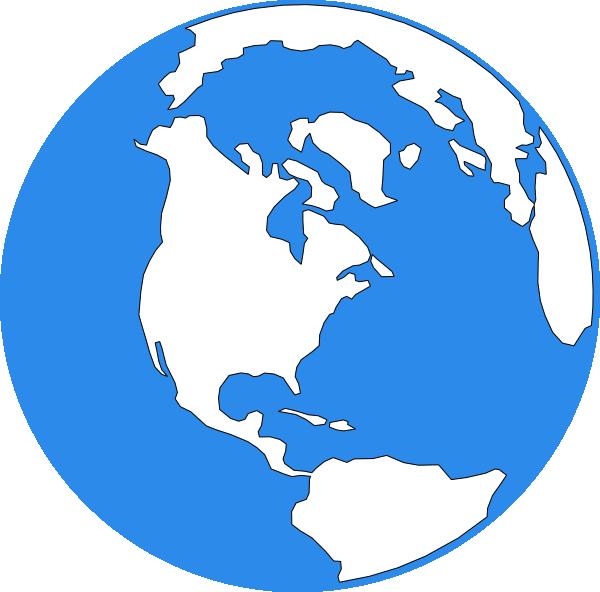 Blue earth icon clip. Facebook clipart small size