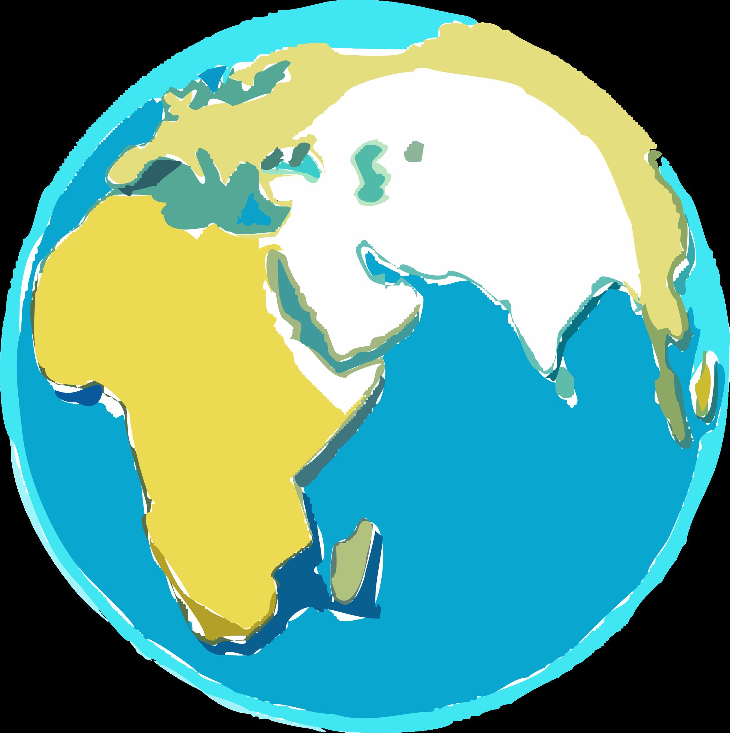 Clipart globe sketches. Earth sketch big image