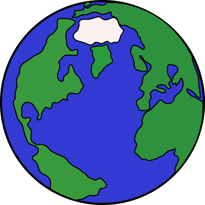 Planets clipart carton. Cartoon globe medium image
