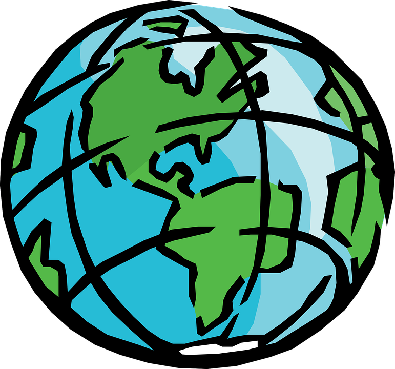 Planet earth pencil and. Clipart map address